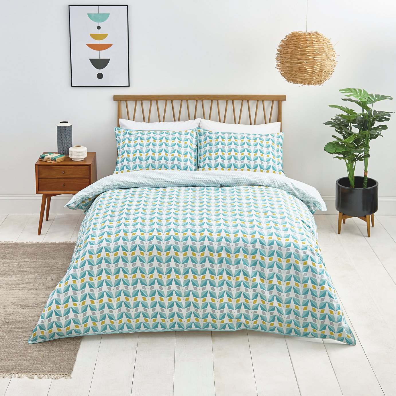 Sainsbury's Home Newstalgia Retro Bedding Set - Single