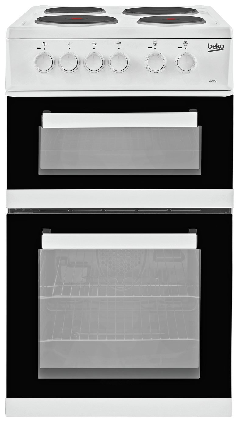 Beko KDC533AW 50cm Twin Cavity Electric Cooker - White