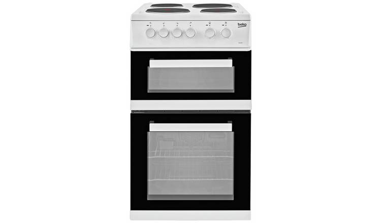 Beko KD533AW 50cm Twin Cavity Electric Cooker - White