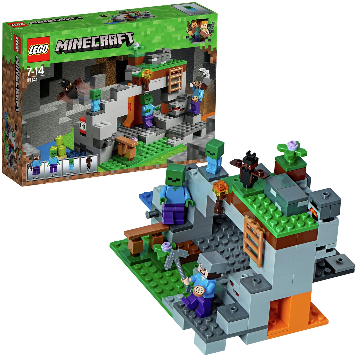 LEGO Minecraft The Zombie Cave Adventures Playset - 21141