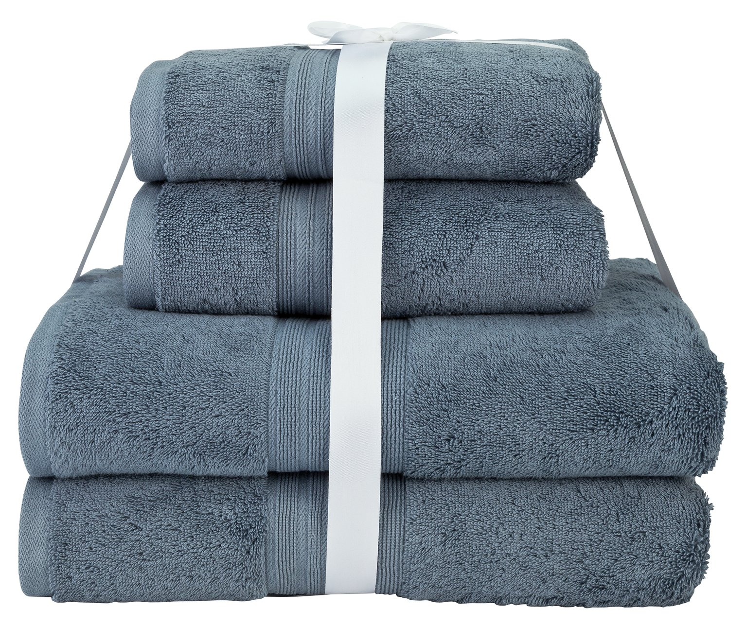 Argos Home Egyptian Cotton 4 Piece Towel Bale - Rustic Blue