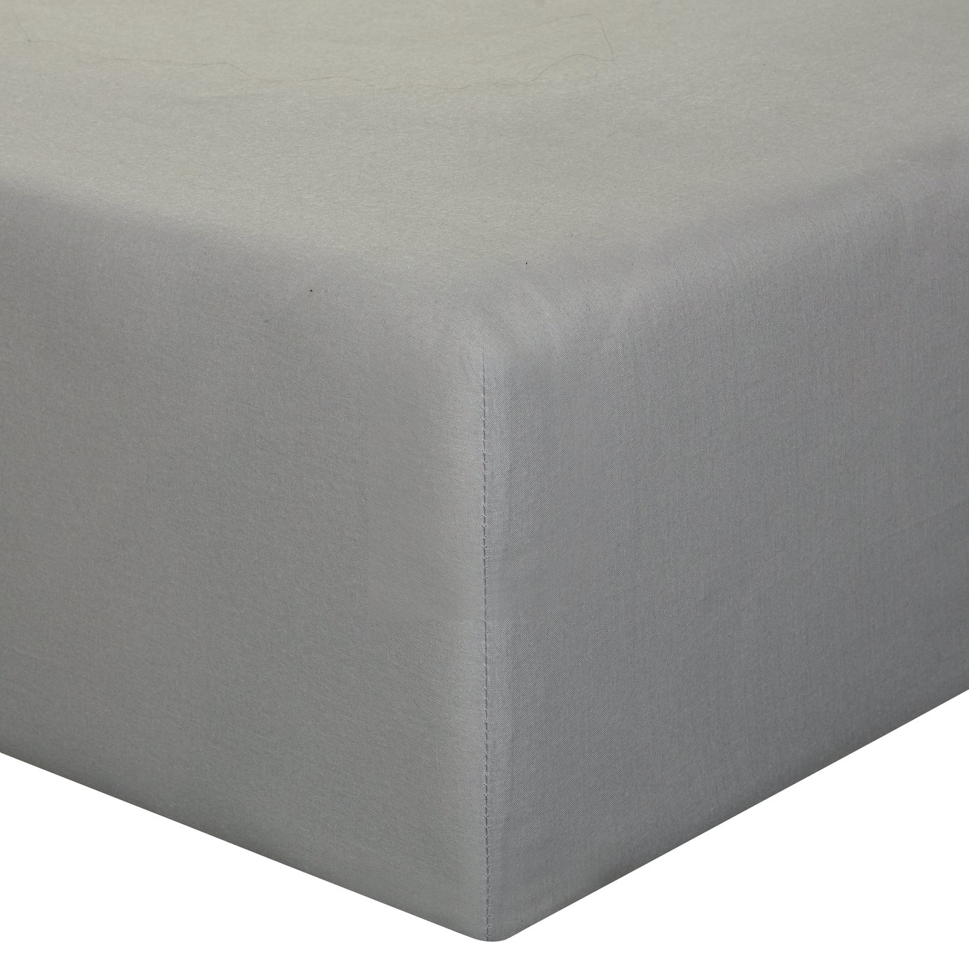 Sainsbury's Home Grey Cool Cotton Fitted Sheet - Superking