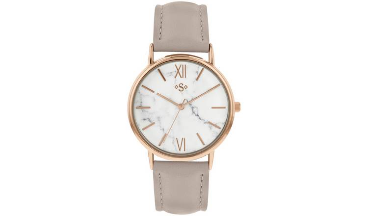 Spirit Ladies Grey Coloured Faux Leather Strap Watch