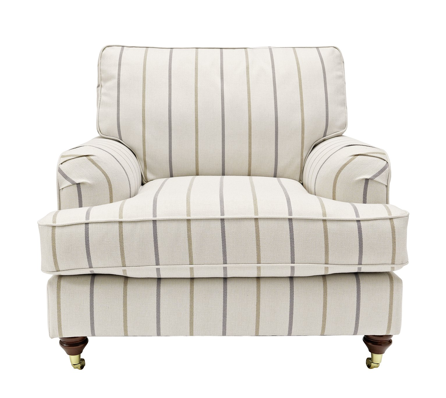 Argos Home Abberton Tweed Fabric Armchair - Natural Stripe