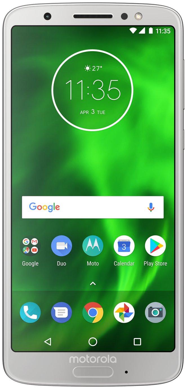 SIM Free Motorola Moto G6 Mobile Phone - Silver