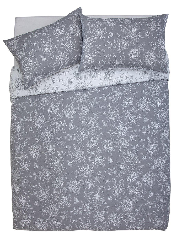 Argos Home Grace Grey Bedding Set - Superking