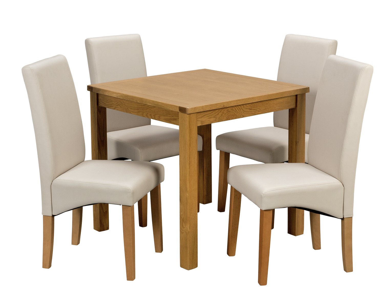Argos Home Ashwell Dining Table and 4 Chairs - Cream