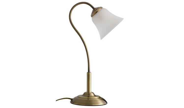 Argos Home Elisa Touch Table Lamp - Antique Brass