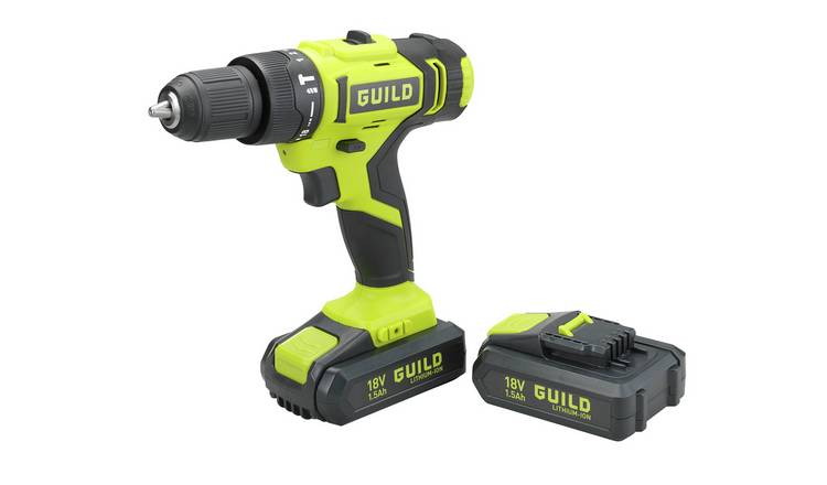 18V Guild Combi Drill with 100 Piece Accessory Set