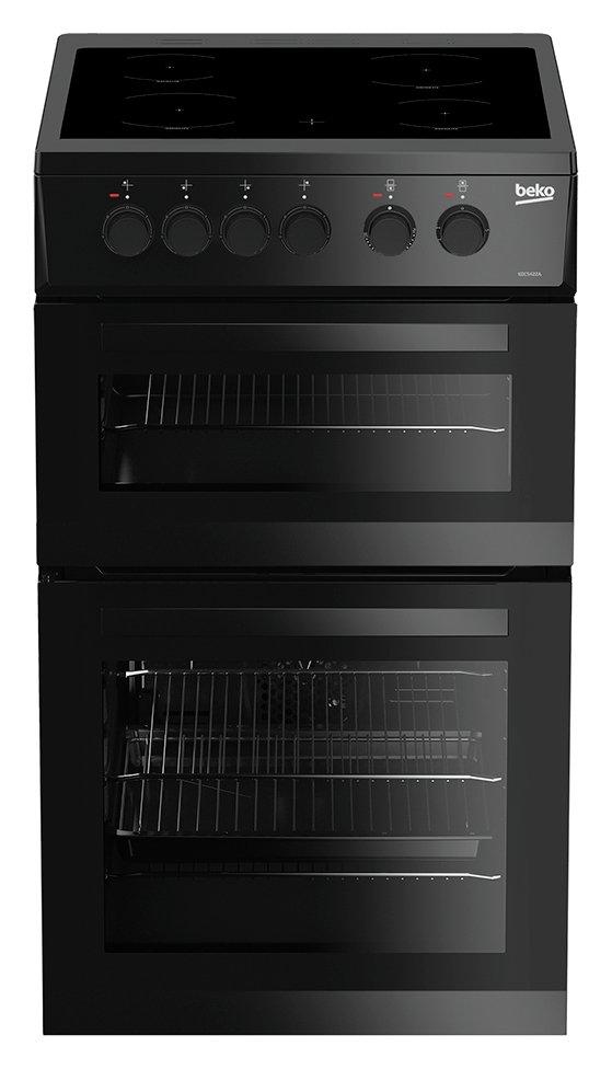 Beko KDC5422AK 50cm Twin Cavity Electric Cooker - Black