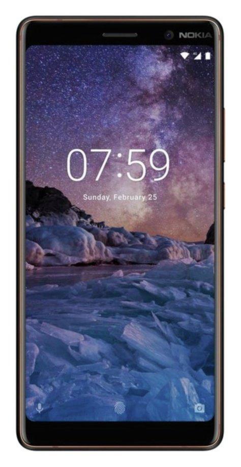 SIM Free Nokia 7 Plus 64GB Mobile Phone - Black/Copper