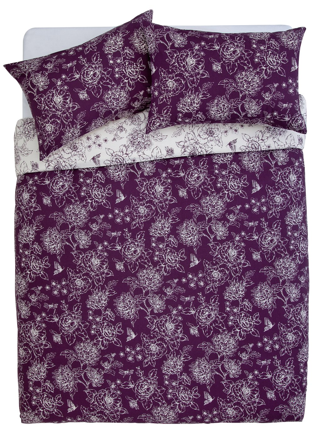 Argos Home Grace Plum Bedding Set - Kingsize
