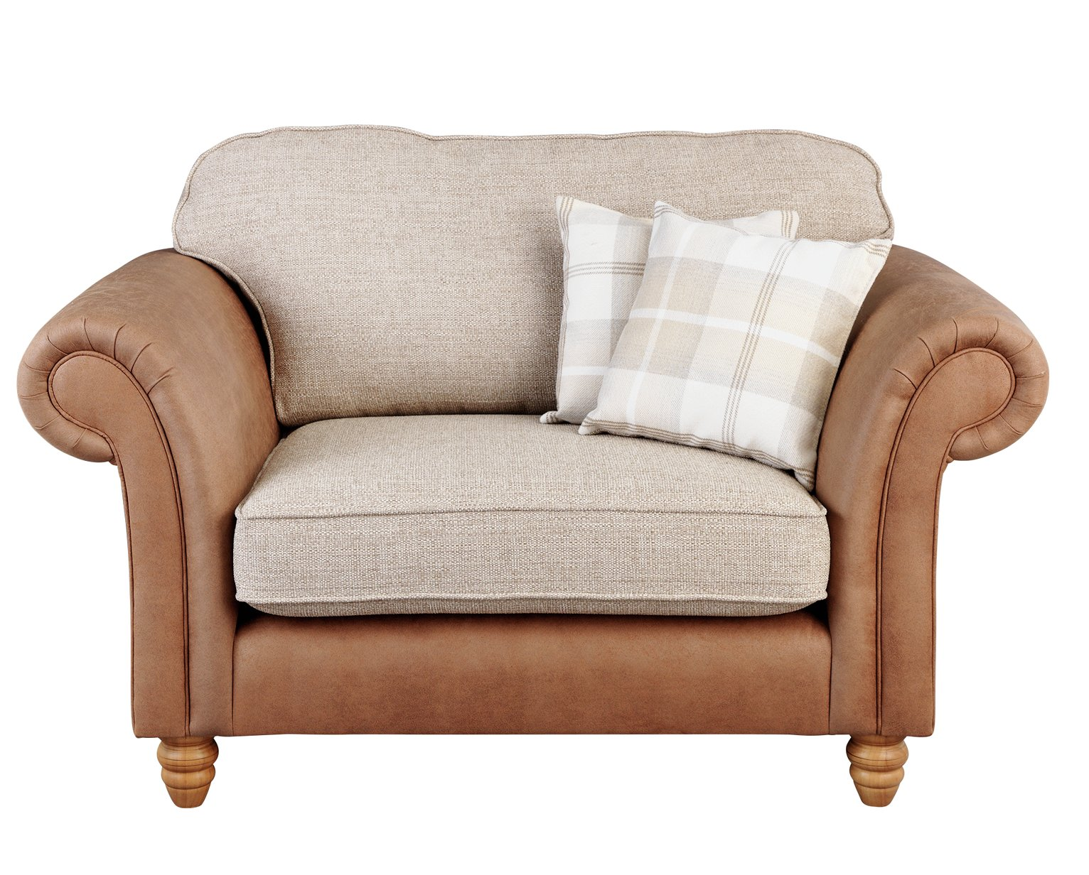 Argos Home Winter Windsor Fabric Cuddle Chair - Beige