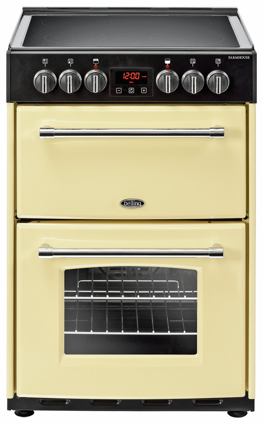 Image of Belling Farmhouse 60E Double Electric Cooker - Cream