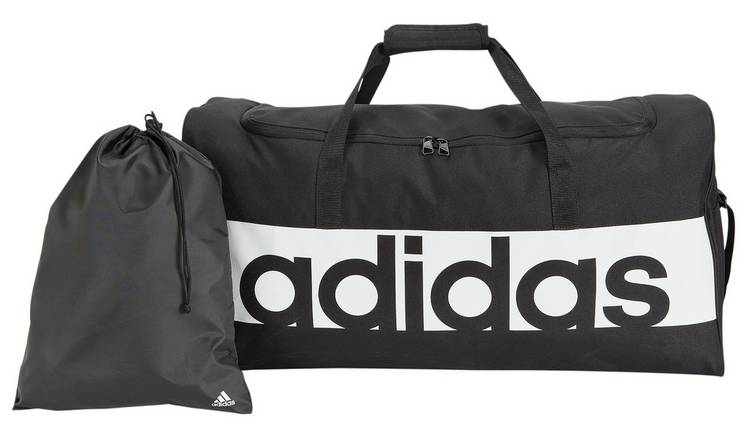 Buy Adidas Linear Large Holdall and Gym Sack - Black  f90fae083b164