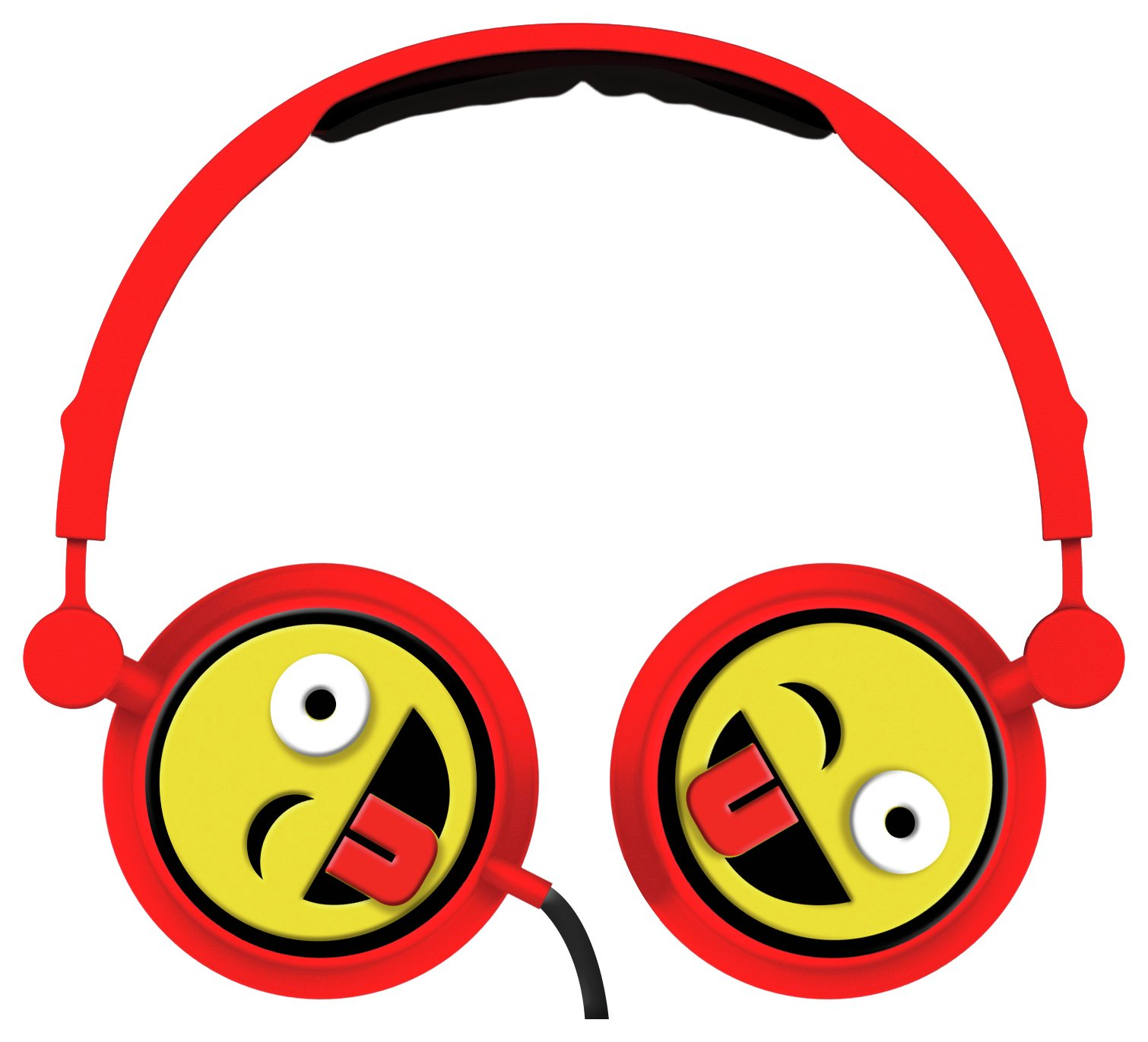 Emoji Swivel On-Ear Headphones - Wink