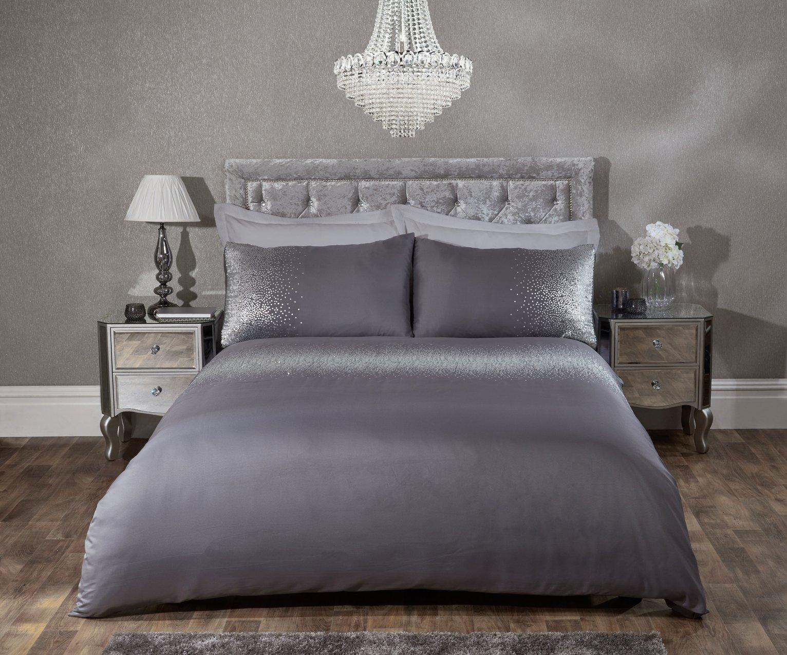 Julian Charles Glitz Boudoir Cushion - Silver
