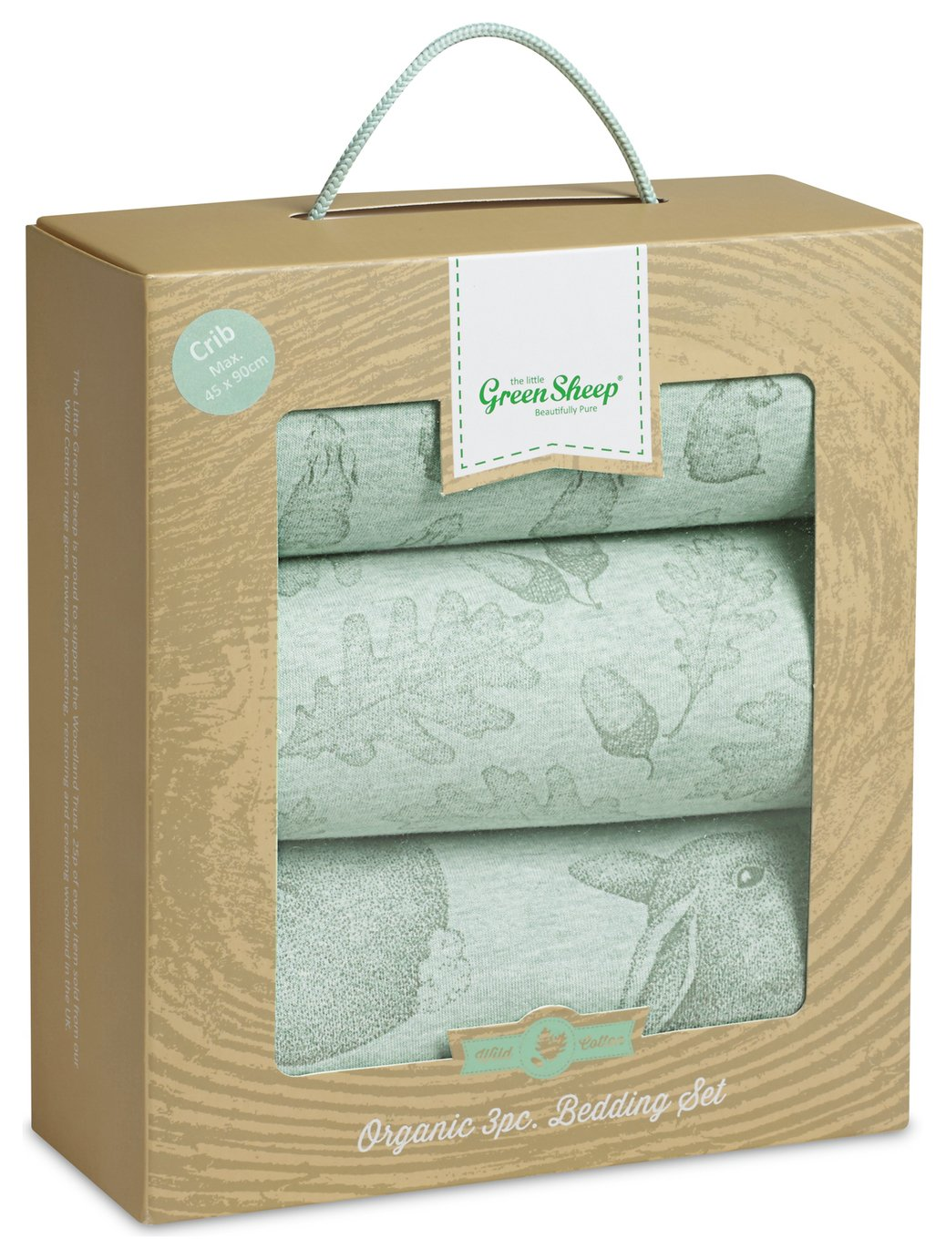 The Little Green Sheep 3 Piece Crib Bedding Set -  Rabbit