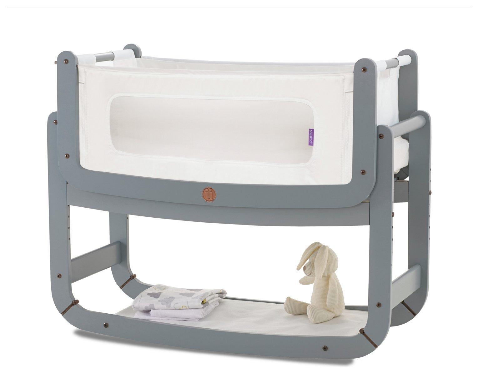 Image of Snuzpod 3 in 1 Bedside Crib - Dove Grey
