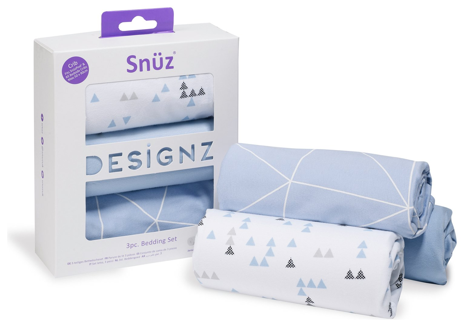 Snuz 3 Piece Crib Bedding Set - Breeze