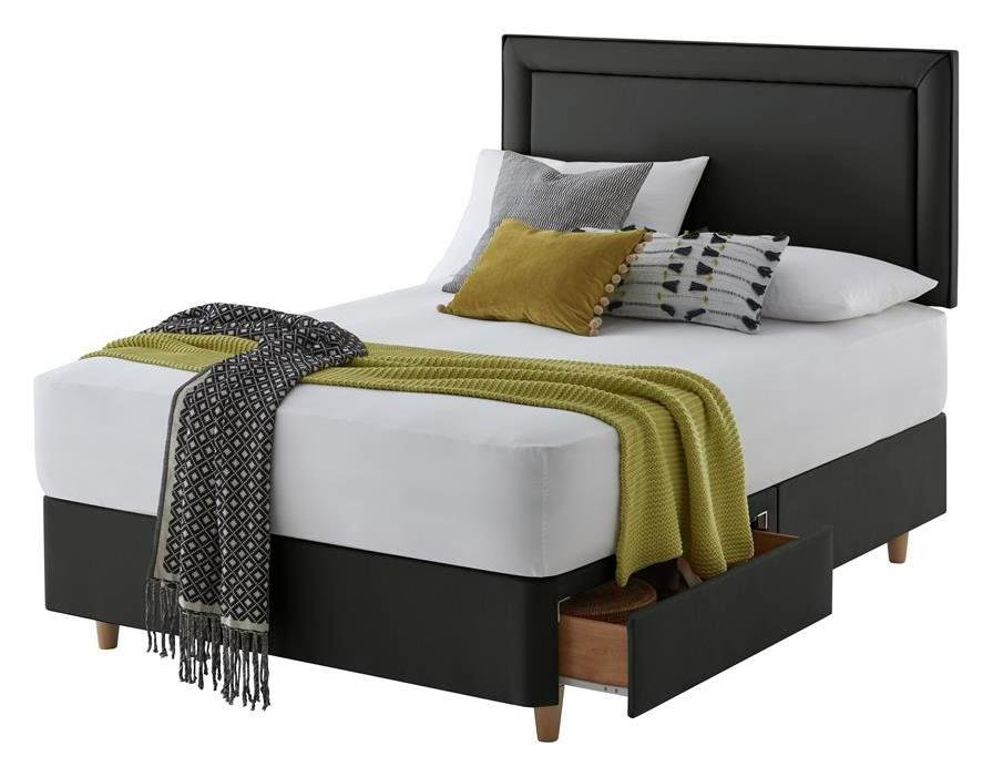 Silentnight Toulouse Charcoal Divan Bed - Superking
