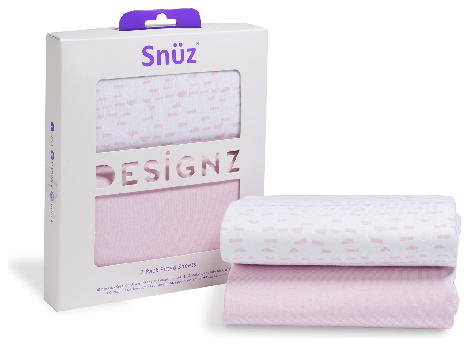 Image of Snuz Fitted Crib Sheet 2 Pack - Rose