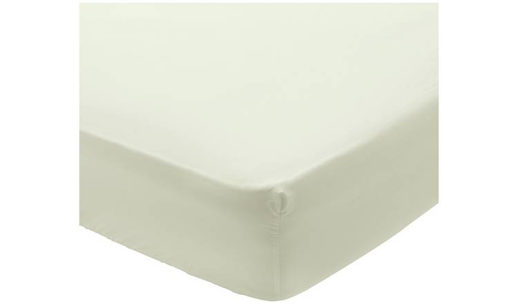 Kingsize Argos Home 200 TC Ivory Extra Deep Fitted Sheet