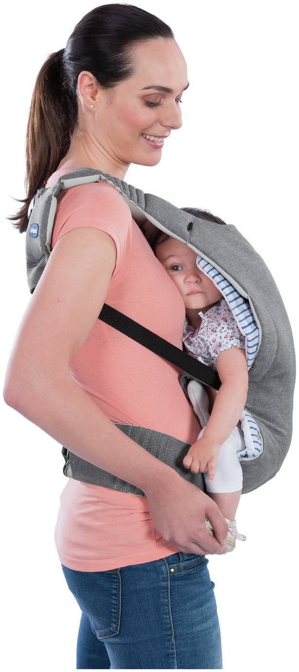 Chicco Myamaki Multifunctional Baby Carrier - Grey Stripes