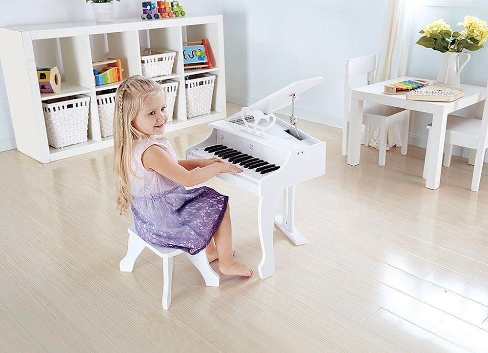 Image of Hape Deluxe Grand Piano - White