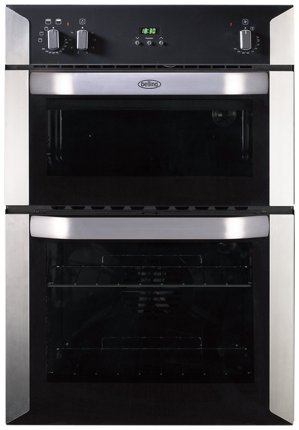 Image of Belling BI90FP Double Electric Oven - Stainless Steel