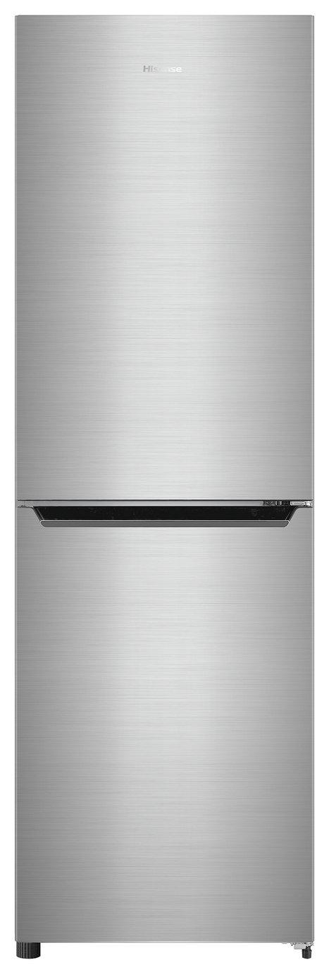 Image of Hisense RB385N4EC1 Frost Free Fridge Freezer Stainless Steel