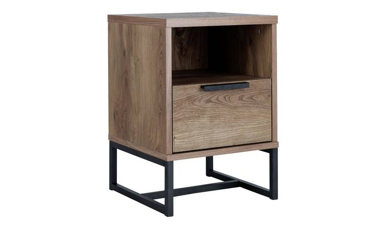 Argos Home Nomad 1 Drawer Bedside Table - Oak Effect