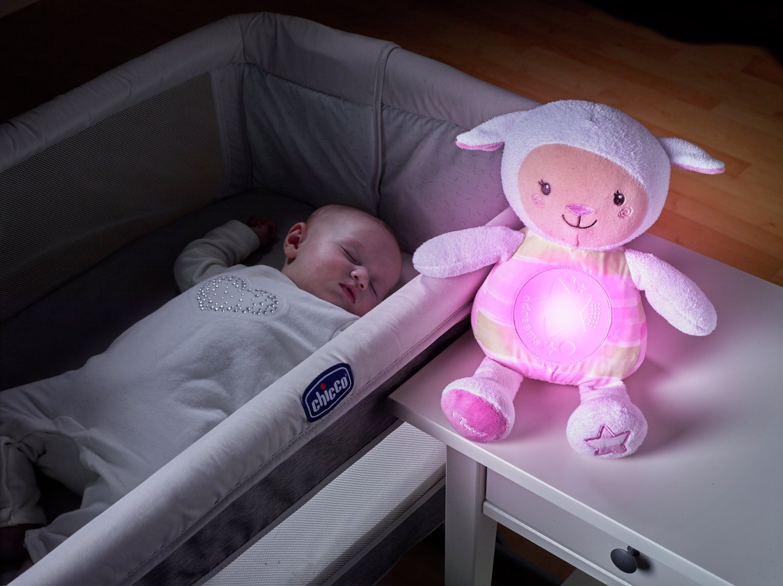 Chicco Lullaby Soft Plush Night Projector - Pink
