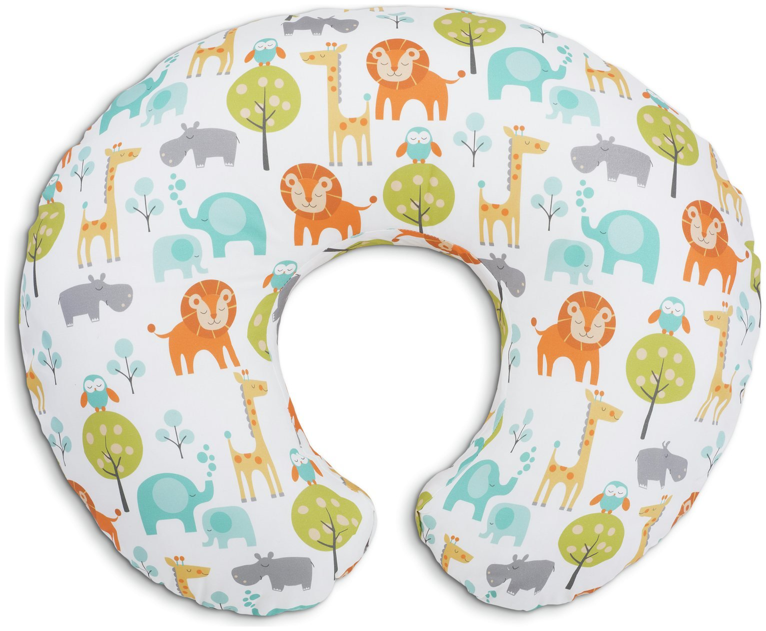 Image of Chicco Boppy Breastfeeding Pillow - Peaceful Jungle
