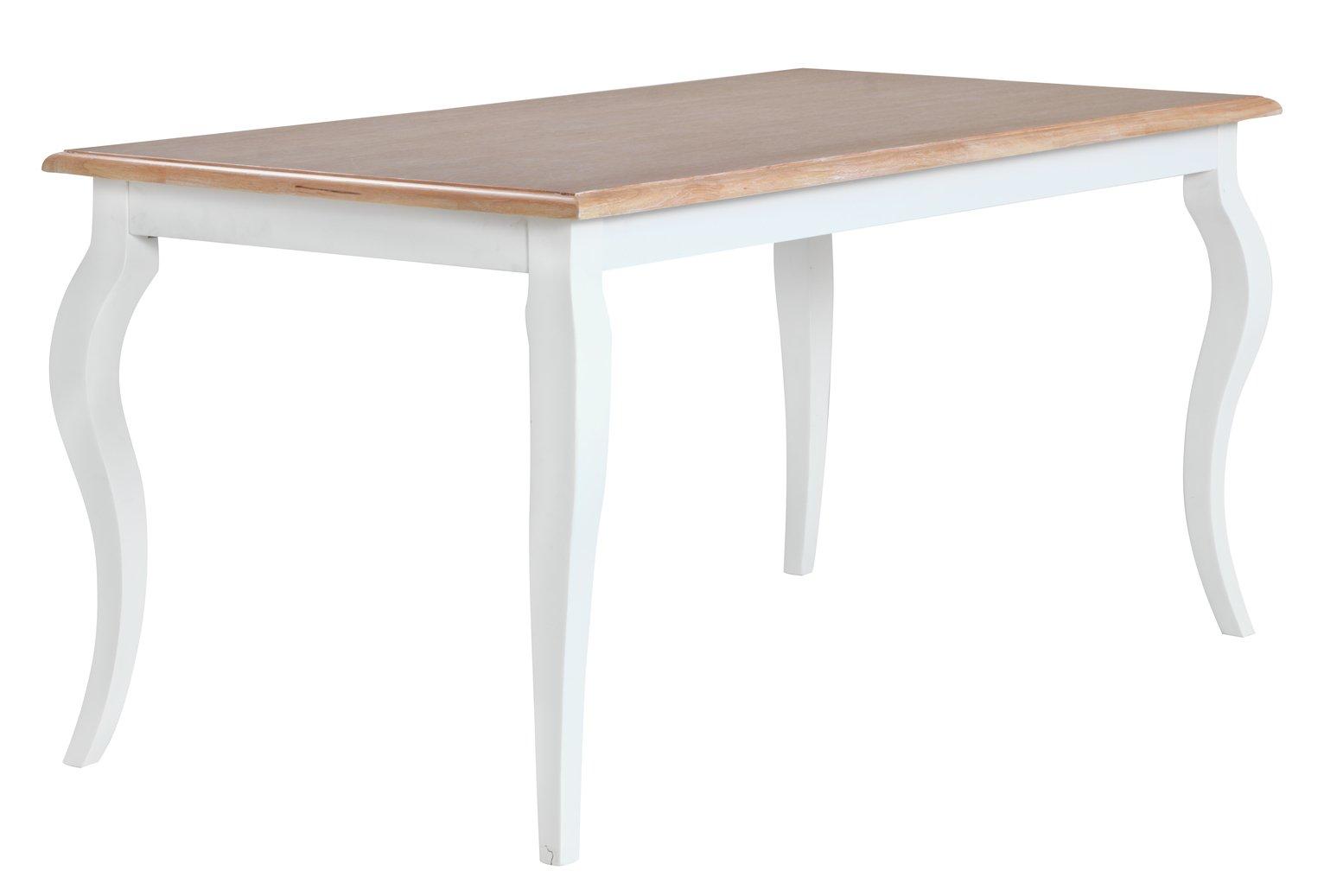 Argos Home Southwold Oak Veneer 6 Seater Table - Two Tone