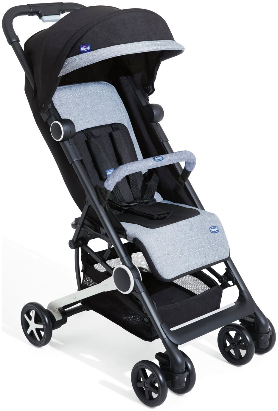 Chicco Minimo Comoact Stroller with Bumper Bar - Black