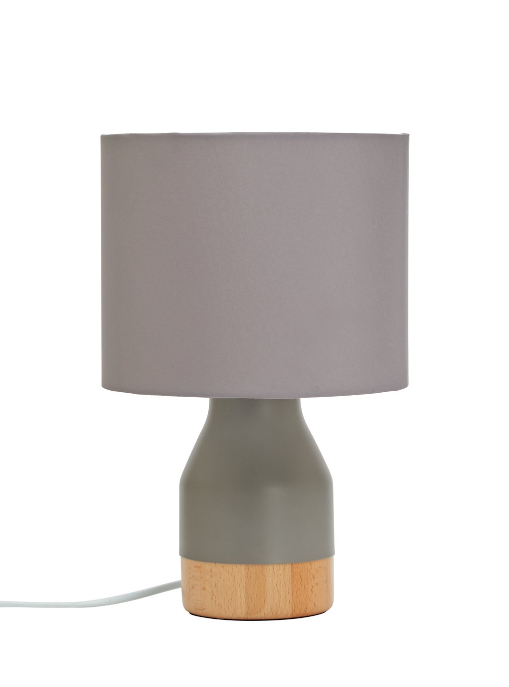 Argos Home Finbar Table Lamp - Grey & Wood