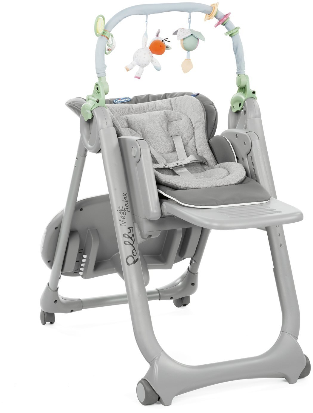 Chicco Poly Magic 4 Wheels Highchair - Anthracite