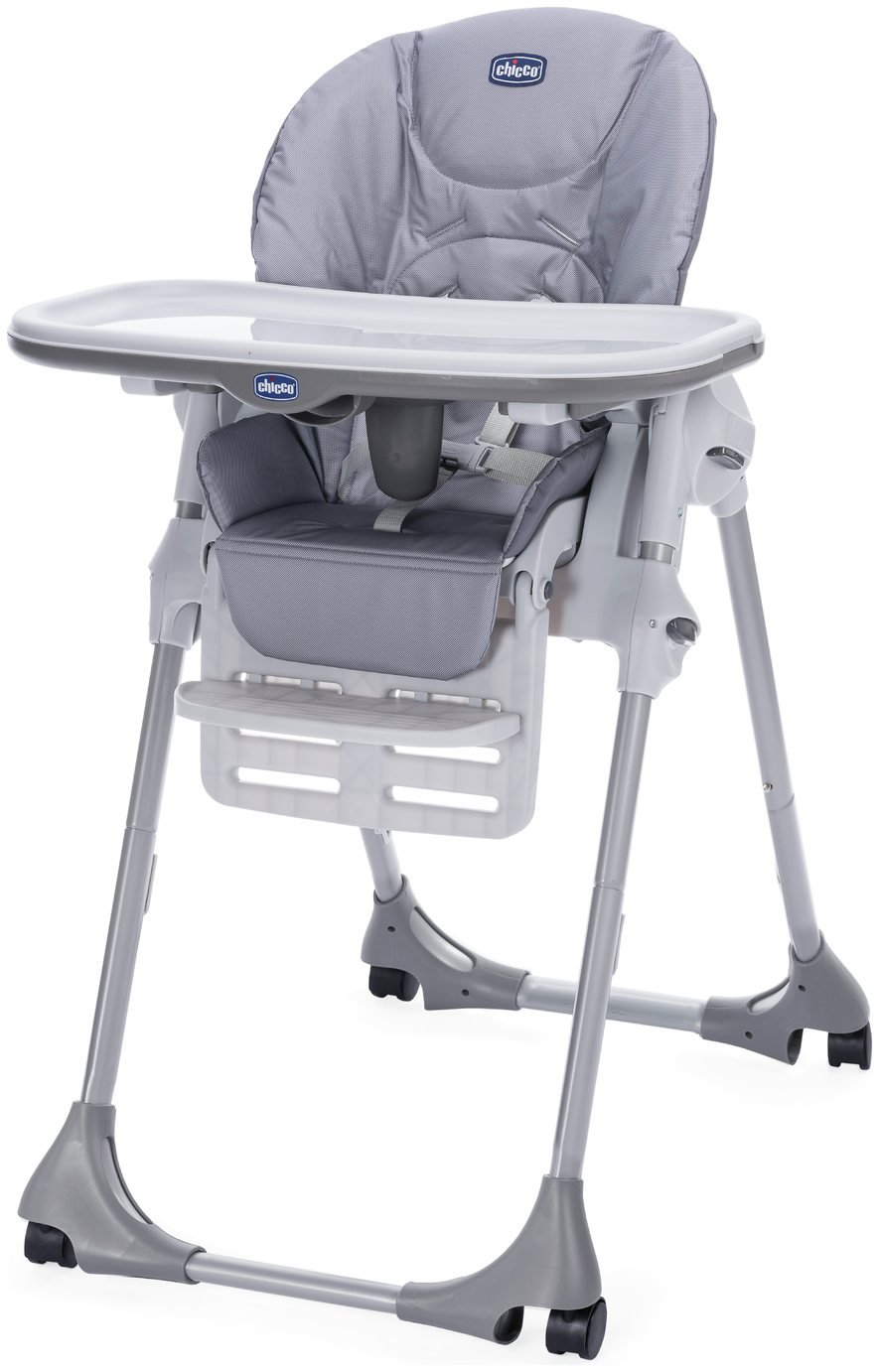 Chicco Polly Easy 4 Wheel Highchair - Nature