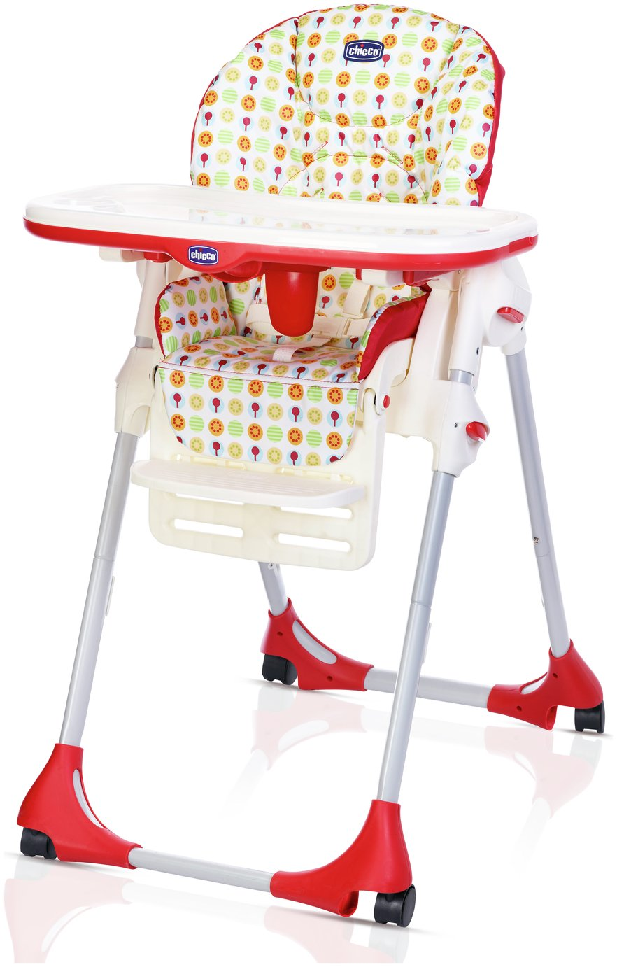 Chicco Polly Easy 4 Wheel Highchair - Sunrise
