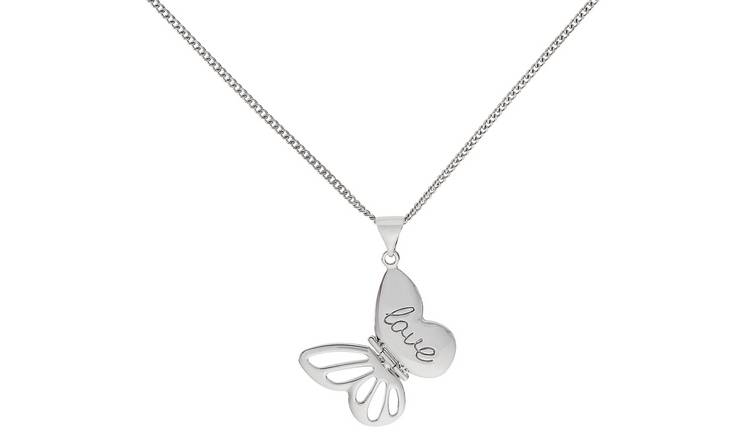 Jewelry & Watches Independent Silver Butterfly Pendant Necklace Necklaces & Pendants