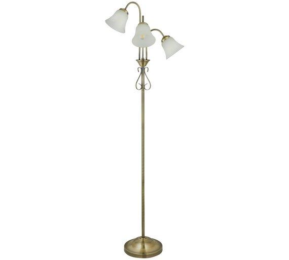 Buy home elisa 3 light floor lamp antique brass floor lamps argos home elisa 3 light floor lamp antique brass aloadofball Choice Image