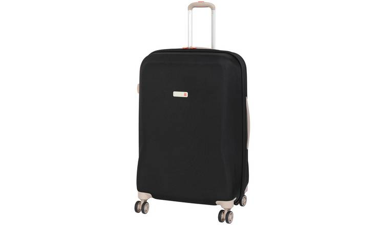 IT Luggage Ionian 8 Wheel Frameless Cabin Case - Black