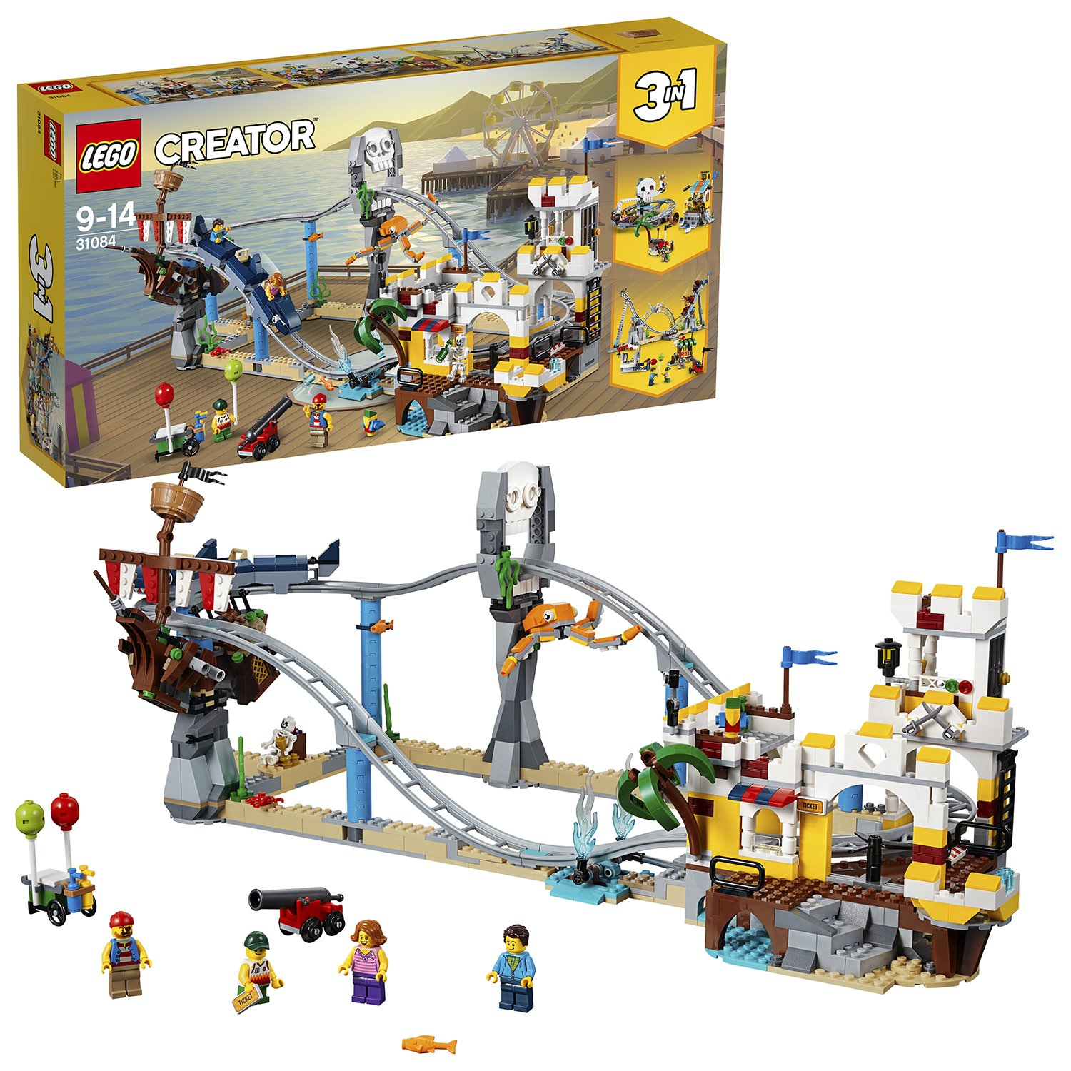 LEGO CREATOR Pirate Roller Coaster Building Toy Set - 31084