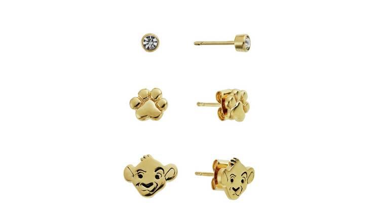 Buy Disney Lion King Stud Earrings - Set of 3   Kids earrings   Argos