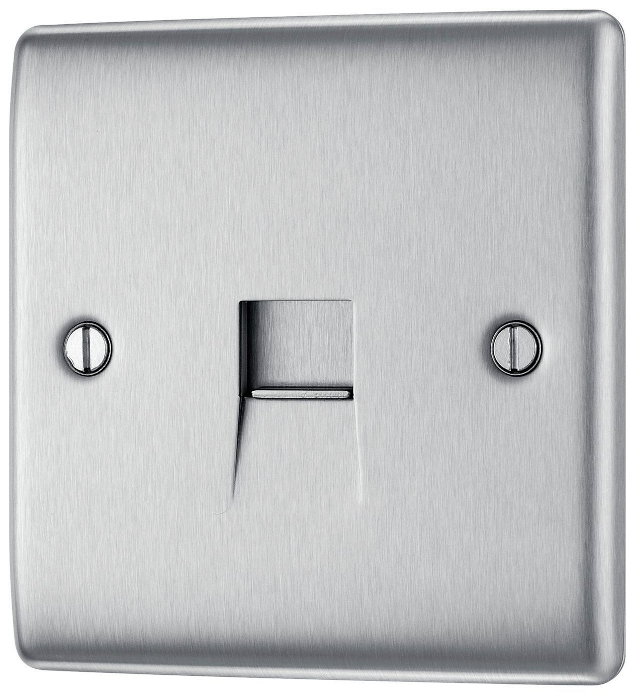 BG Telephone Raised Socket - Brushed Stainless Steel