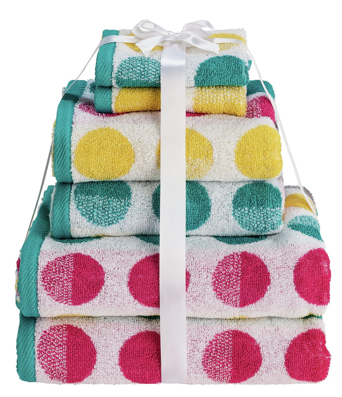 Argos Home 6 Piece Towel Bale - Spots