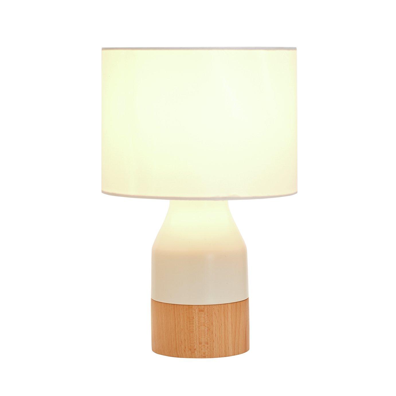 Argos Home Finbar Table Lamp - Cream & Wood