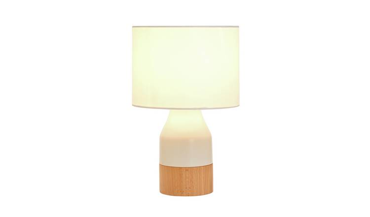 Argos Home Finbar Table Lamp - Cream & Wood