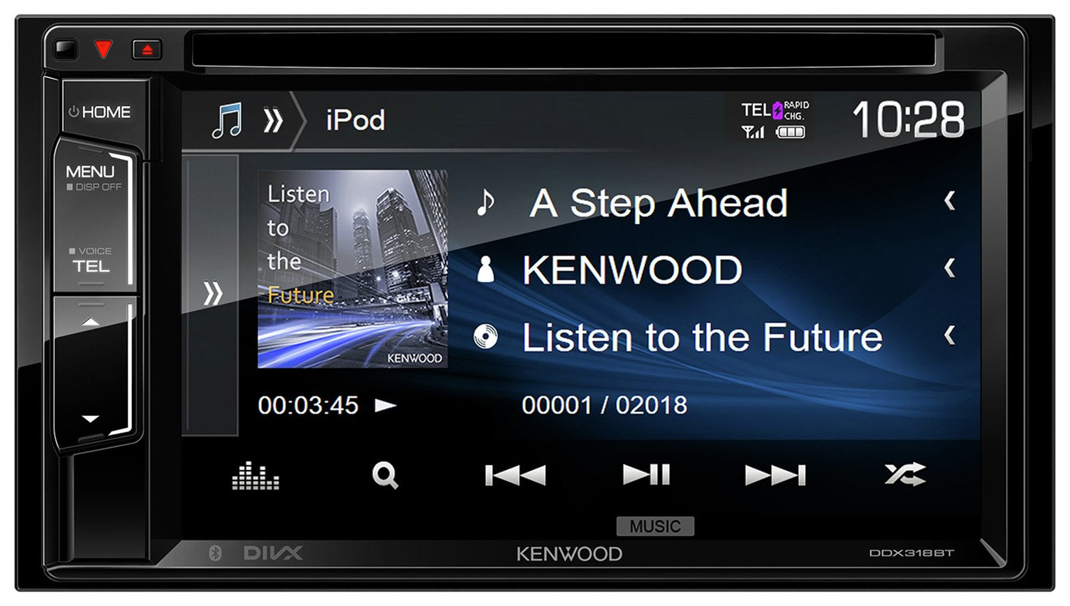 Kenwood DDX-318BT Car Stereo